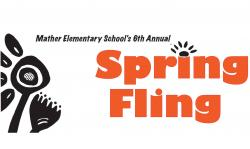 mather school spring fling graphic