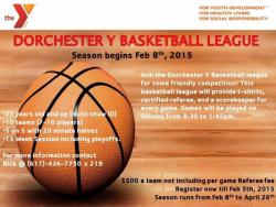 Dorchester YMCA basketball info