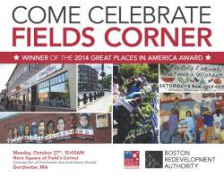 Celebrate With Fields Corner | Oct. 27