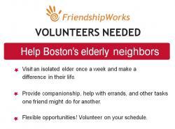 friendshipworks volunteer flyer