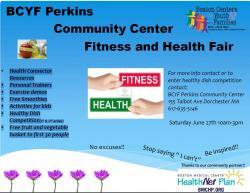 flyer for perkins center health fair