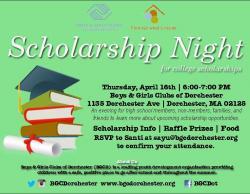 scholarship night flyer
