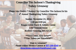 Councillor Tito Jackson's Thanksgiving Turkey Giveaway | Nov. 23