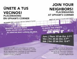 Upham's Corner Placemaking Events | Oct 23-25